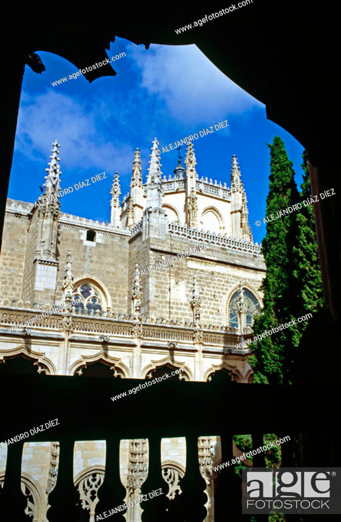 Stock Photo: San Juan de los Reyes monastery, Toledo. Spain.