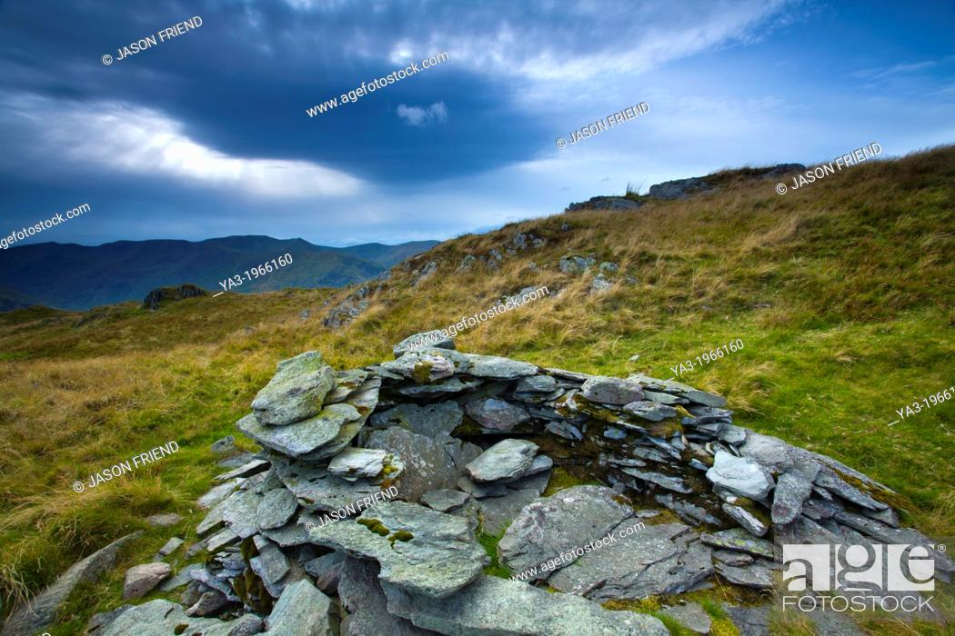 Stock Photo: England, Cumbria, Lake District National Park. Place Fell on Patterdale Common in the North-Eastern Lake District near Ullswater.