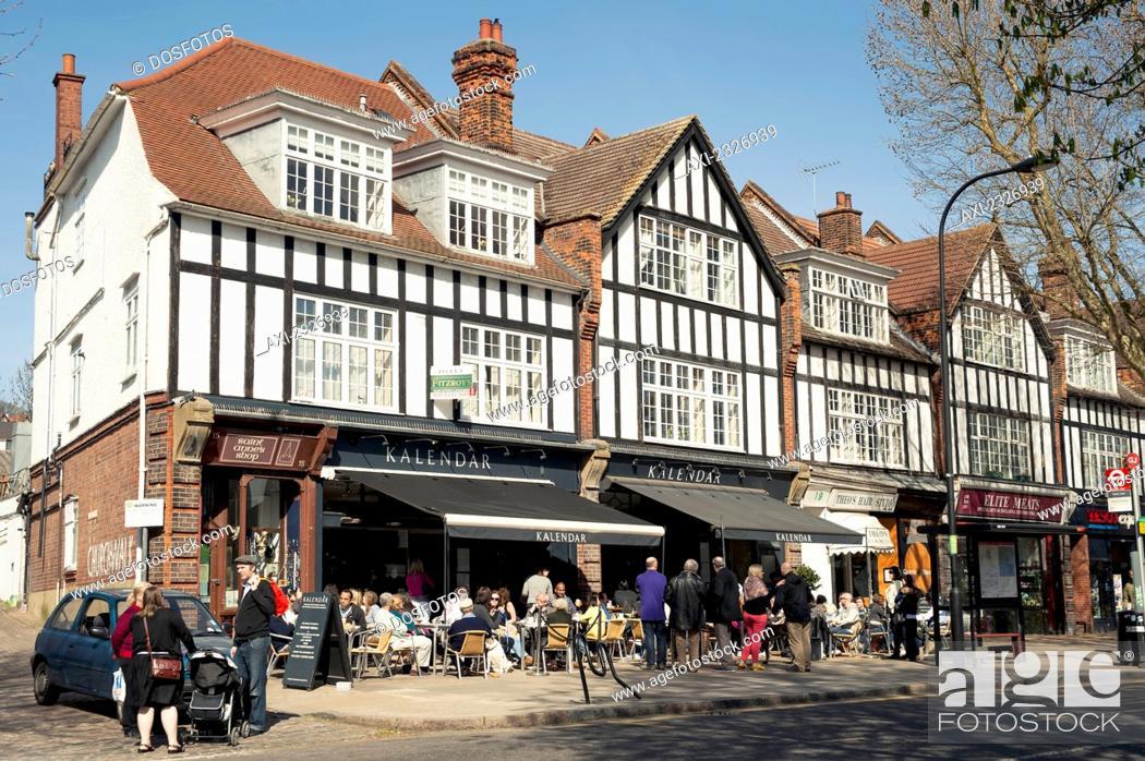 Stock Photo: Uk, England, North London; London, Tudor Style Houses In Hampstead.