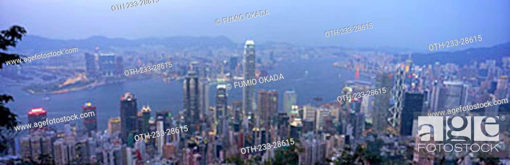 Imagen: Hong Kong cityscape from the Peak, Hong Kong.