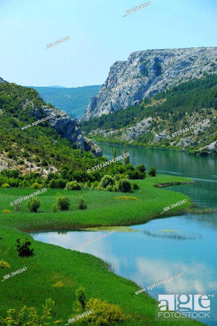Stock Photo: Krka river, Krka National Park, Roški Slap, Croatia.