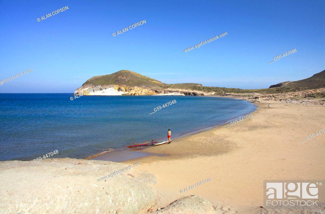 Stock Photo: Los Genoveses beach. Cabo de Gata-Nijar Natural Park (Parque Natural de Cabo de Gata-Nijar). Almeria. Andalucia. Spain.