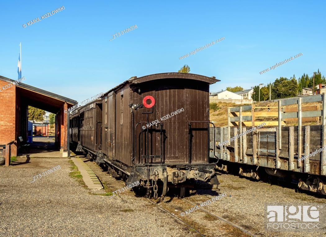 Stock Photo: Esquel Train Station, Chubut Province, Patagonia, Argentina.