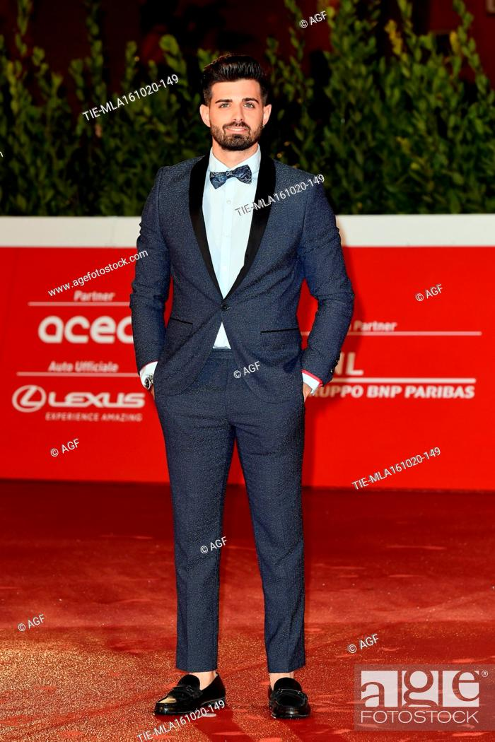 """Stock Photo: Leonardo Decarli attends the red carpet of the movie """"""""Supernova"""""""" during the 15th Rome Film Festival on October 16, 2020 in Rome, Italy."""