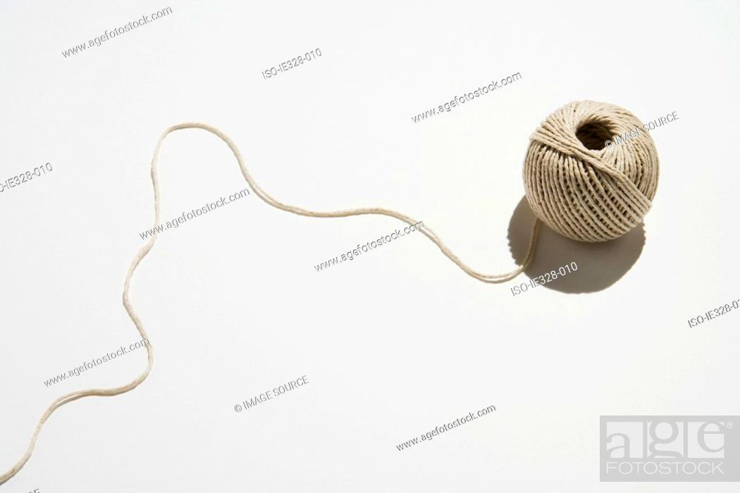 Stock Photo: Ball of twine unraveling.