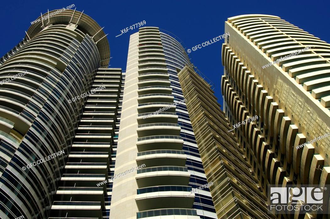 Low Angle Shot Of Grosvenor House Commercial Tower Sheikh Zayed
