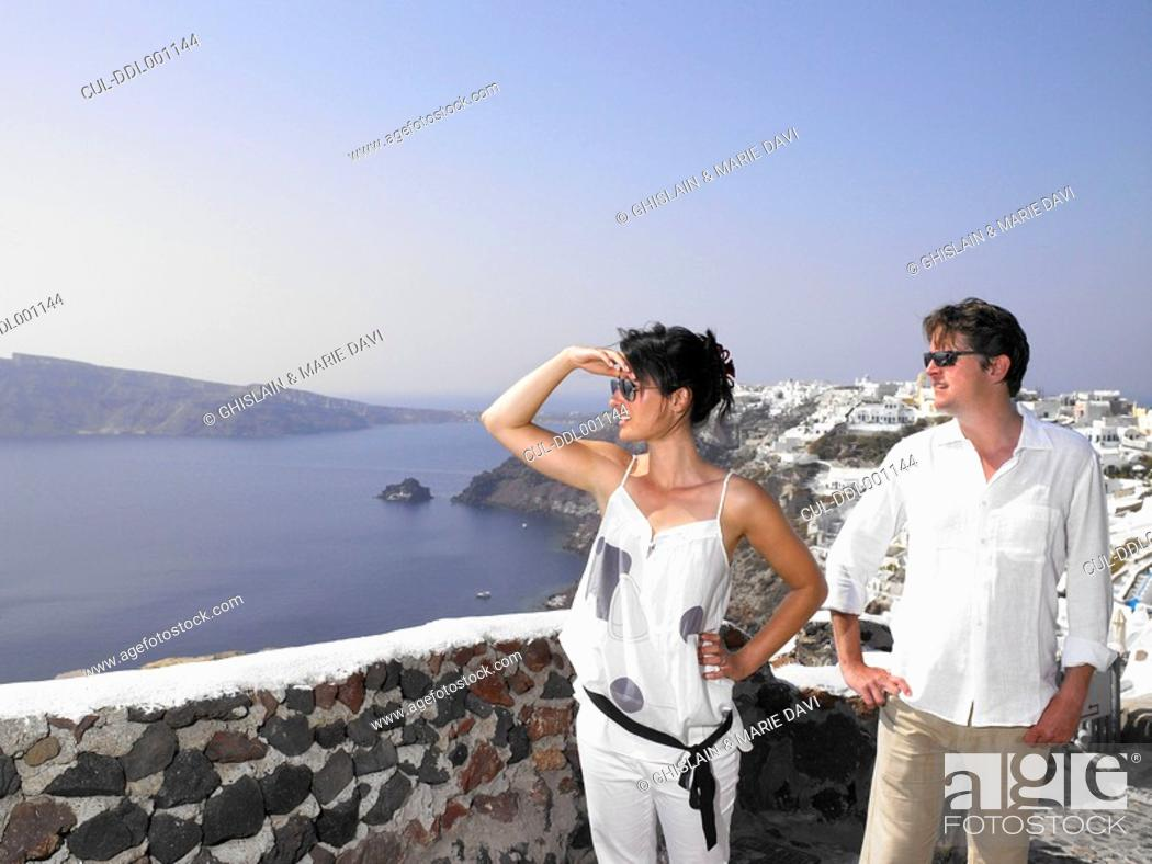 Stock Photo: Couple looking at the view.