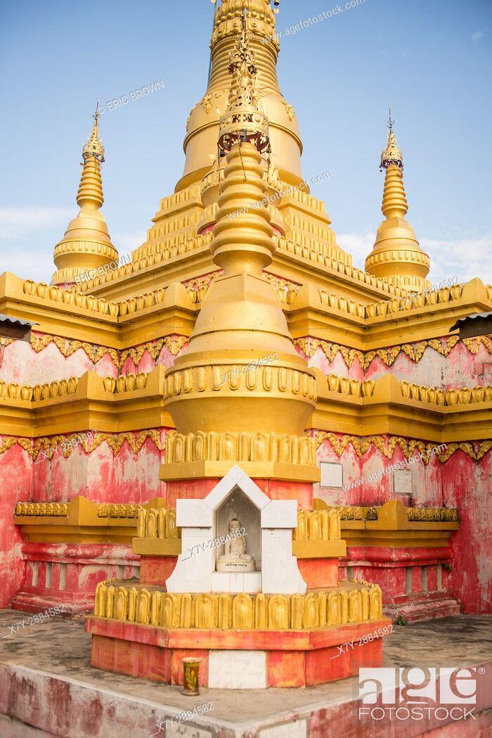 Stock Photo: A pagoda near Pindaya, Myanmar.