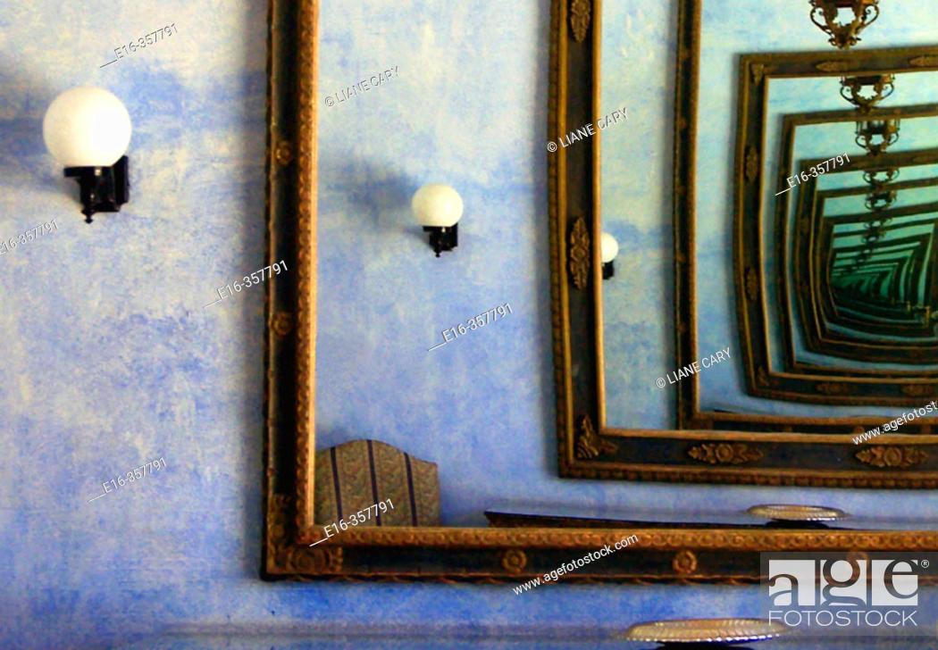 Stock Photo: endless mirrors.