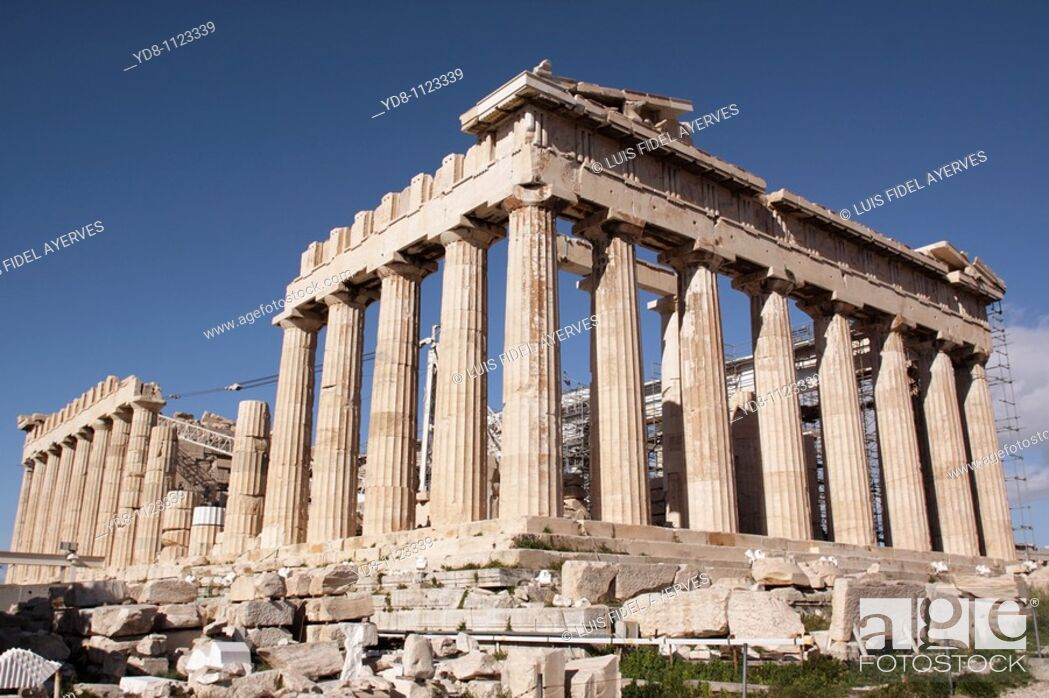 Stock Photo: Panthenon, Acropolis, Athens, Greece.