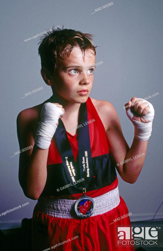 Stock Photo: Portrait of boxer.