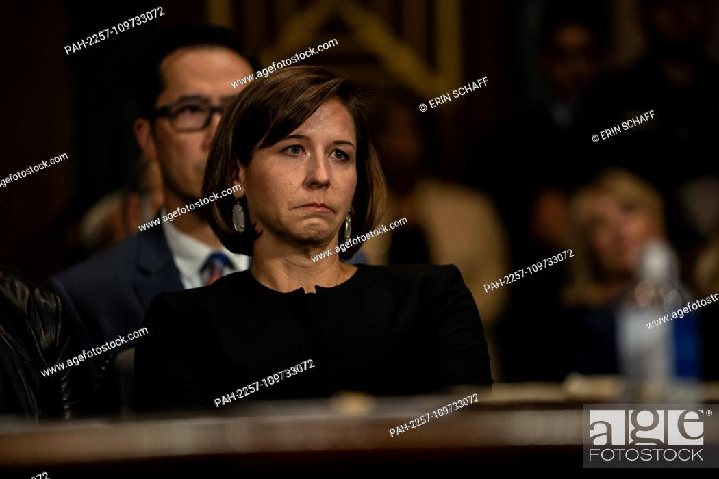Imagen: SEPTEMBER 27, 2018 - WASHINGTON, DC: Ashley Kavanaugh, Brett Kavanaugh's wife. Judge Brett M. Kavanaugh testified in front of the Senate Judiciary committee.