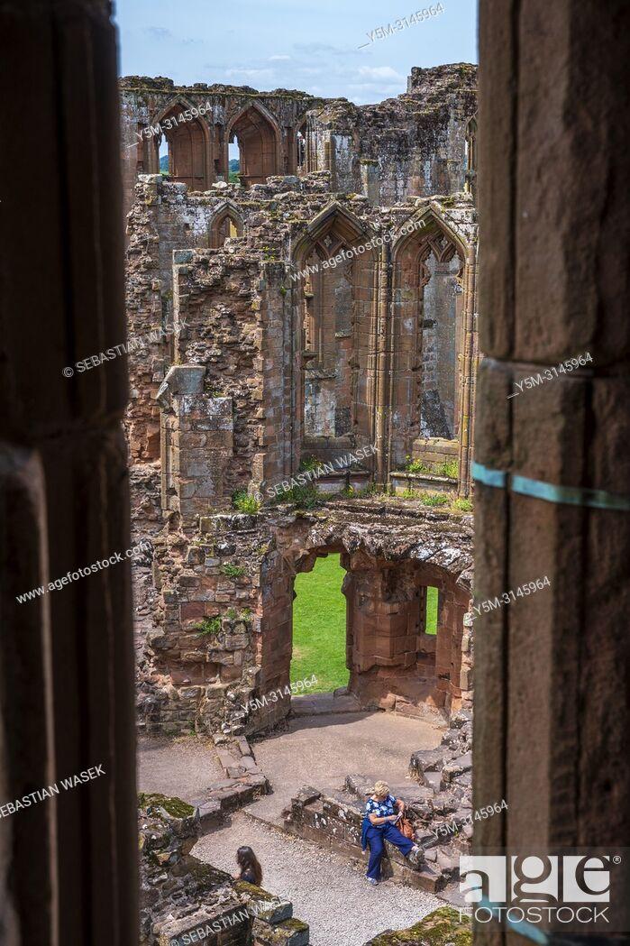 Stock Photo: Kenilworth Castle, Warwickshire, West Midlands, England, United Kingdom, Europe.