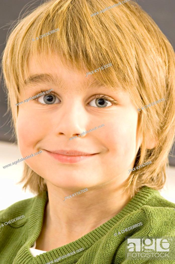 Stock Photo: Close-up of a boy smiling.