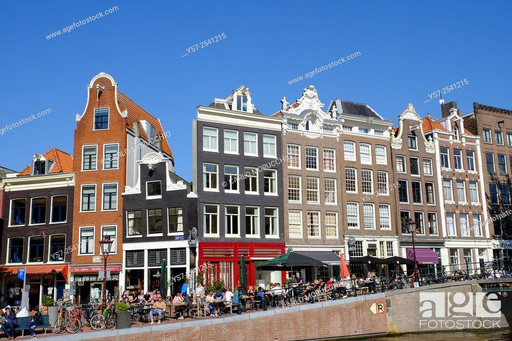Stock Photo: Bulidings on Prinsengracht, Amsterdam, The Netherlands, Europe.
