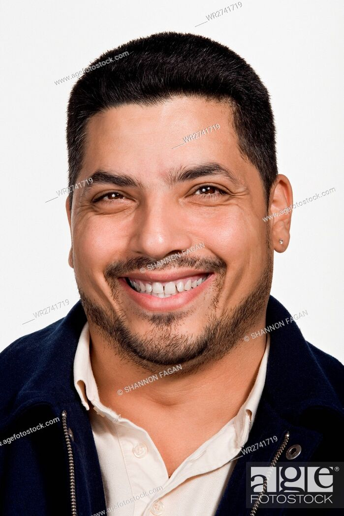 Stock Photo: Portrait of mid adult middle eastern man.