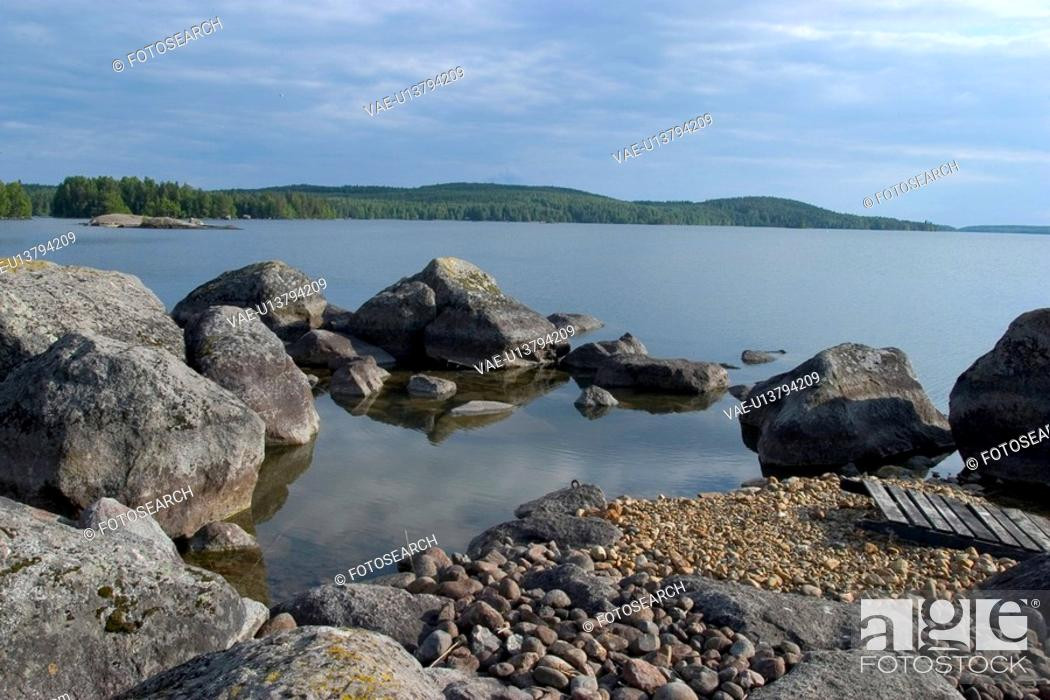 Stock Photo: seashore, beach, seaside, ocean, stones.
