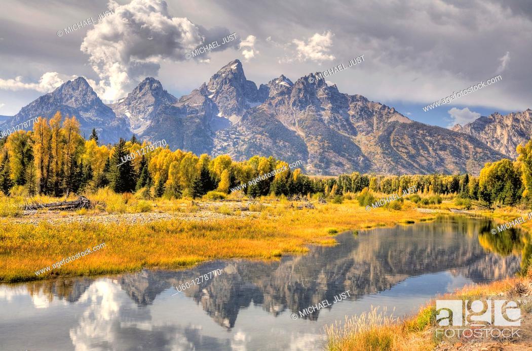 Stock Photo: Autumn at Grand Teton National Park, Wyoming.