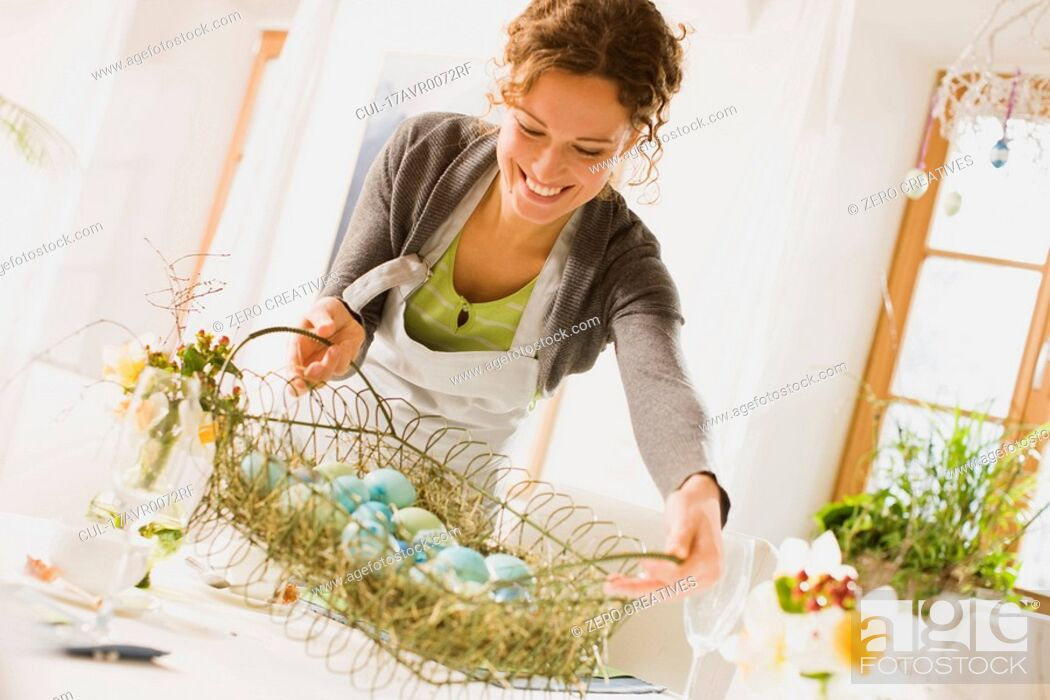 Stock Photo: Easter arrangements.