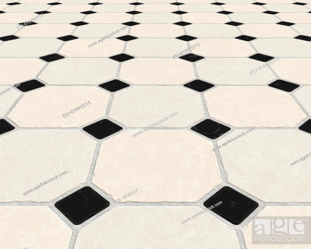 Stock Photo: marble tiled floor.