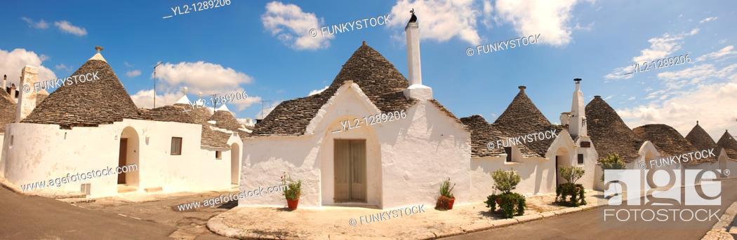 Stock Photo: Trulli of Alberobello - Puglia - Italy.