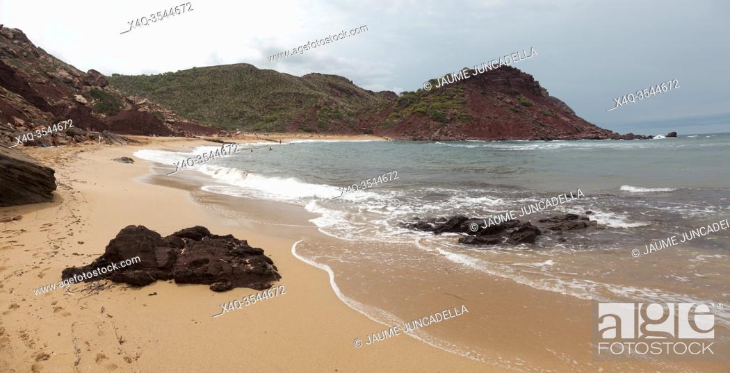 Stock Photo: Beach in Menorca island.