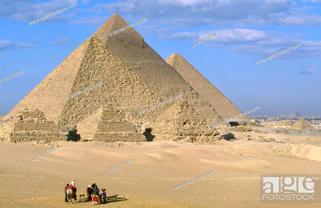Stock Photo: Pyramids of Gizeh. Egypt.