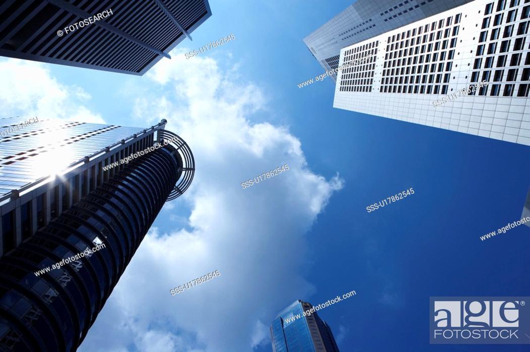 Stock Photo: Raffles Place, Singapore.