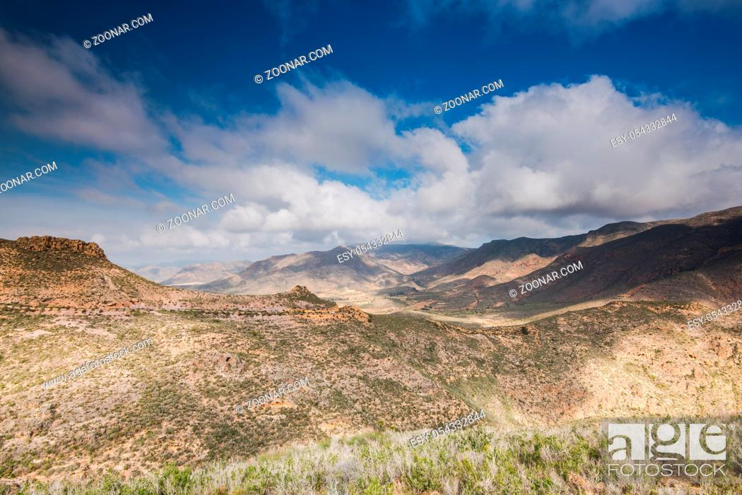 Stock Photo: Wilderness in hills on Spanish Coast in Murcia.