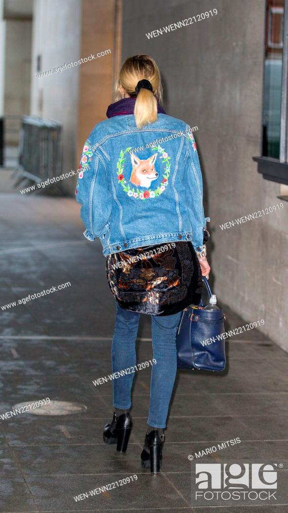 Stock Photo: Fearne Cotton arriving at BBC in Portland Place to host Live Lounge on Radio 1 Featuring: Fearne Cotton Where: London, United Kingdom When: 28 Jan 2015 Credit:.