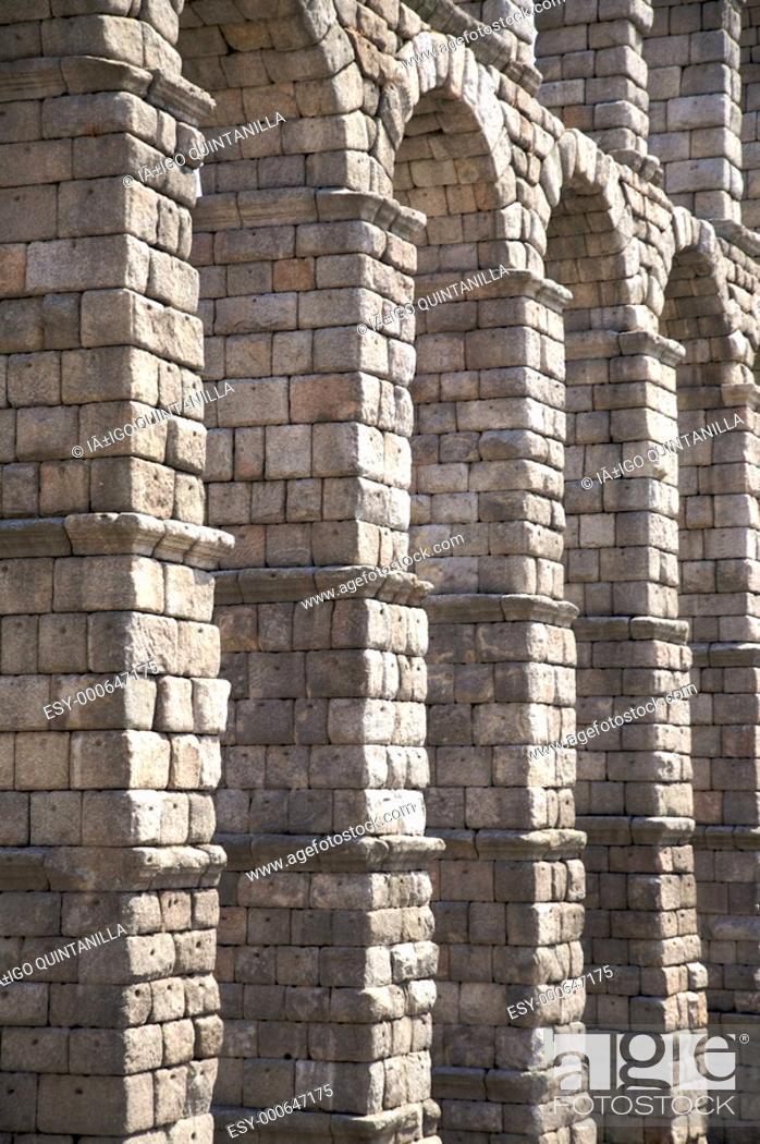 Stock Photo: big stone columns.