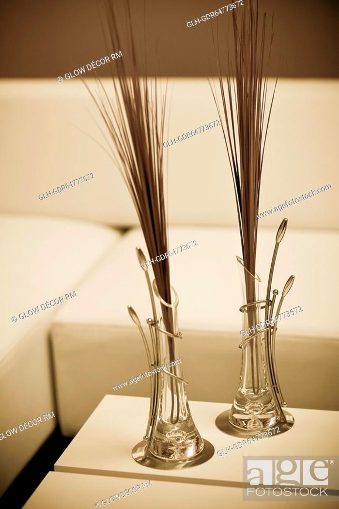 Photo de stock: Vases on a table.