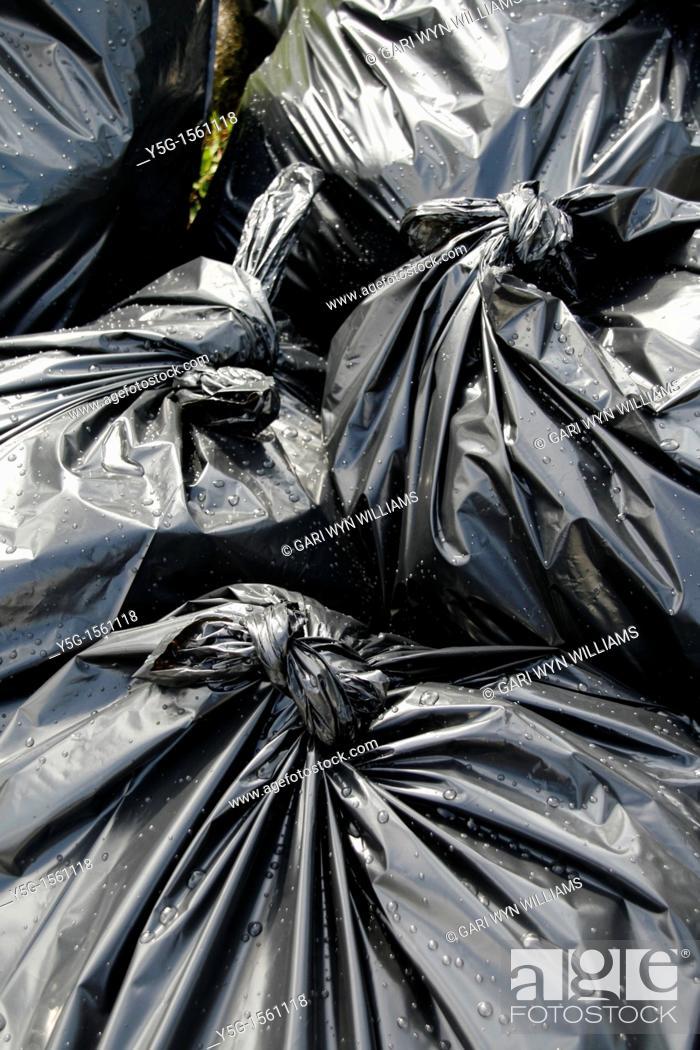 Stock Photo: rubbish bags.