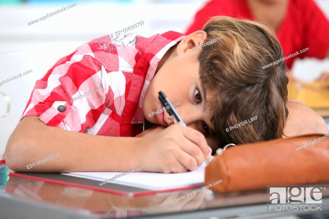 Stock Photo: portrait of a pupil.