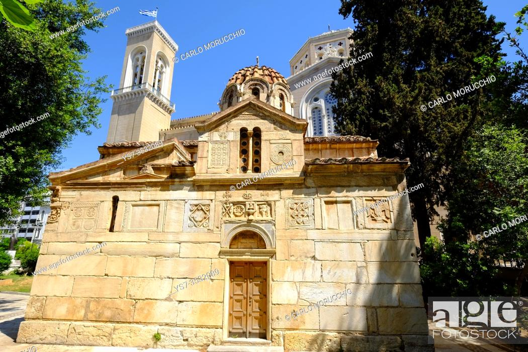Stock Photo: The Little Metropolis, the Church of St. Eleutherios, Athens, Greece, Europe.