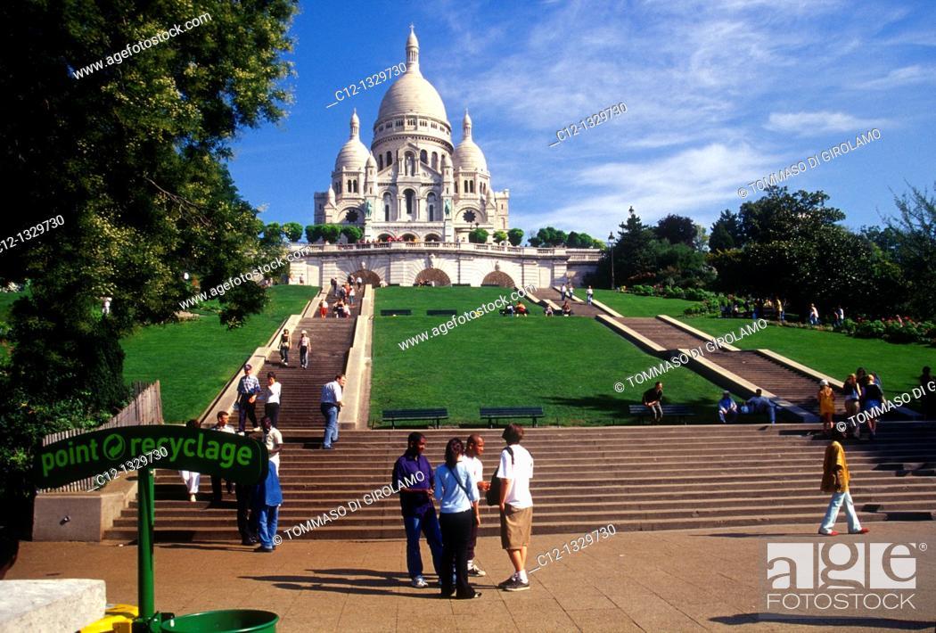 Stock Photo: France, Paris, Sacre Coeur.