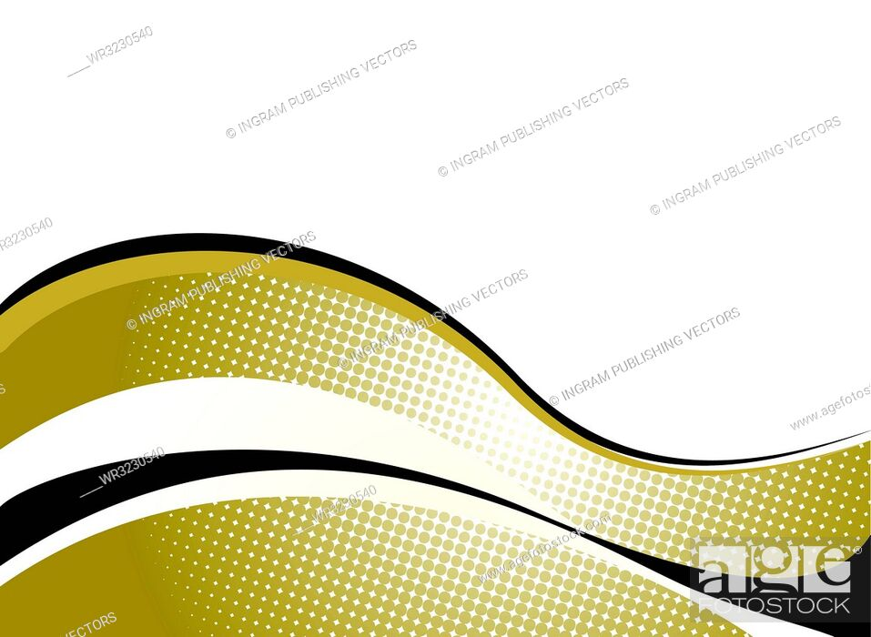 Vector: golden background with wave effect that would be ideal to place text around.