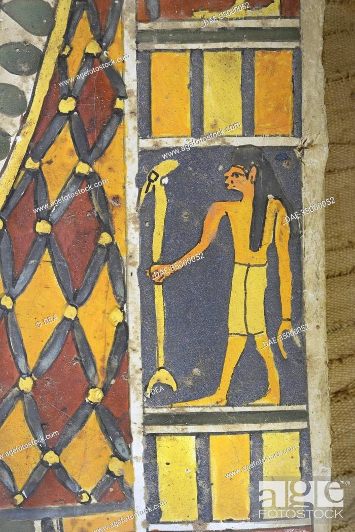 Stock Photo: Egypt - Saqqara necropolis (UNESCO World Heritage List, 1979) - 4th century b.C. (Dinasty XXX, 378-341 b.C.). Mummified mid-ranking person.