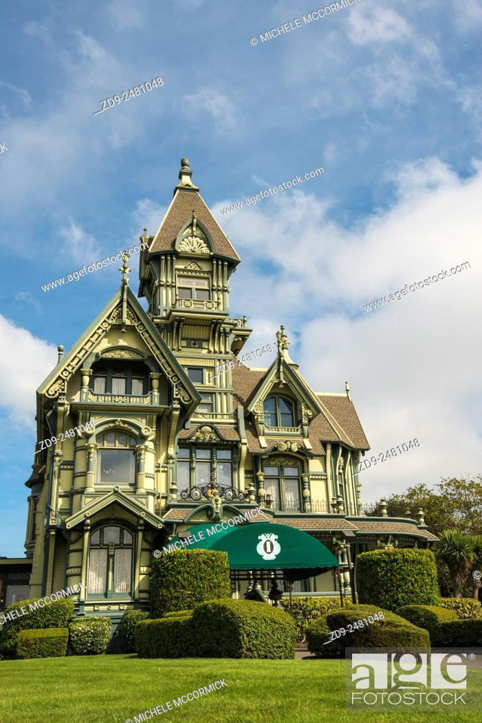 Stock Photo: Eureka's famous Carson Mansion is now owned by a private club.