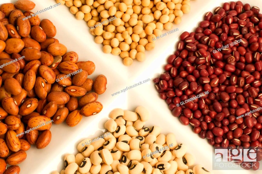 Stock Photo: Close-up of assorted beans.