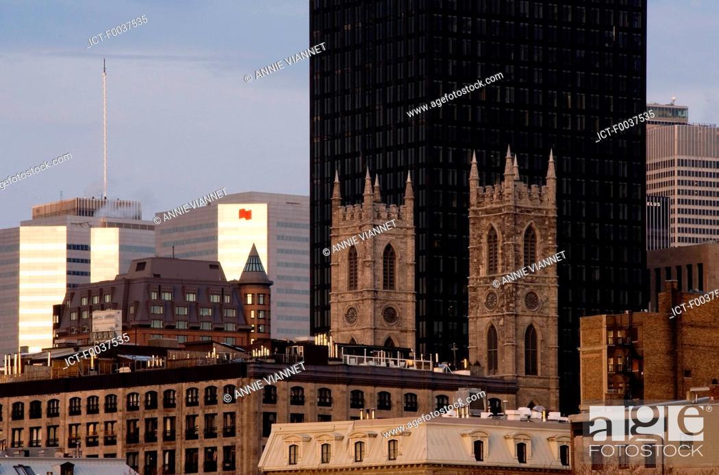 Stock Photo: Canada, Quebec, Montreal, Notre Dame basilica.