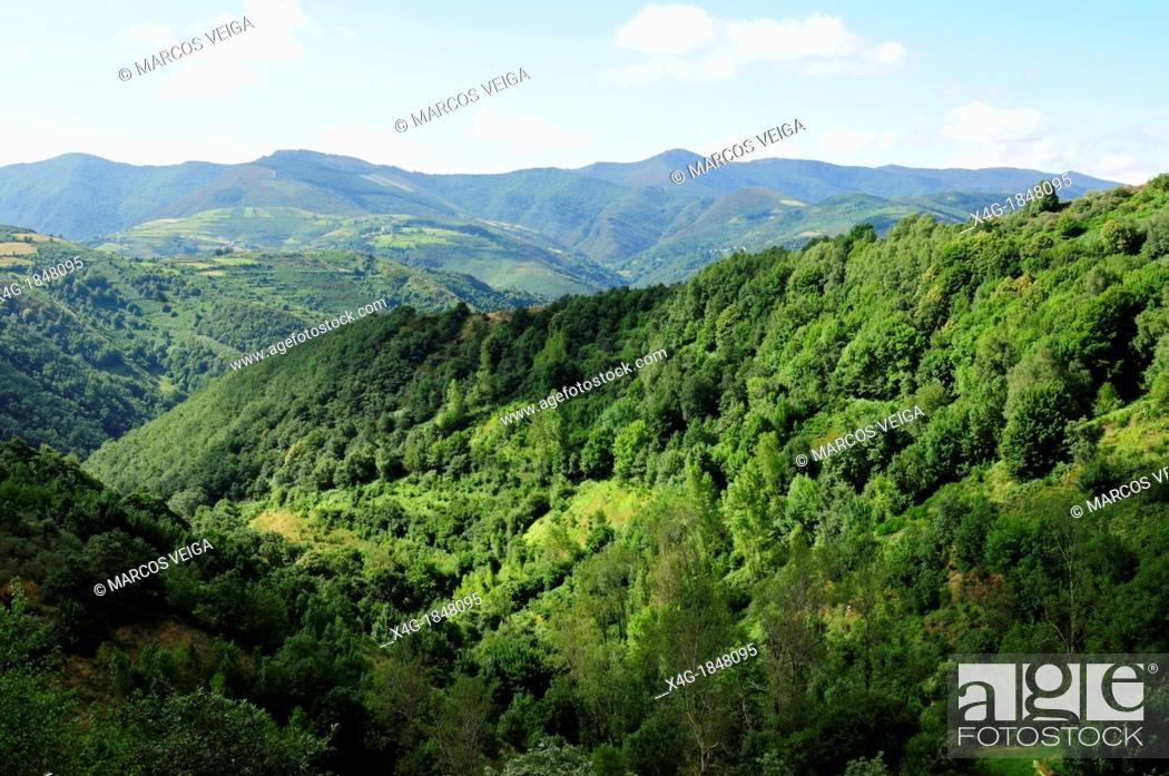 Stock Photo: O Courel mountain range  Lugo, Galicia, Spain.