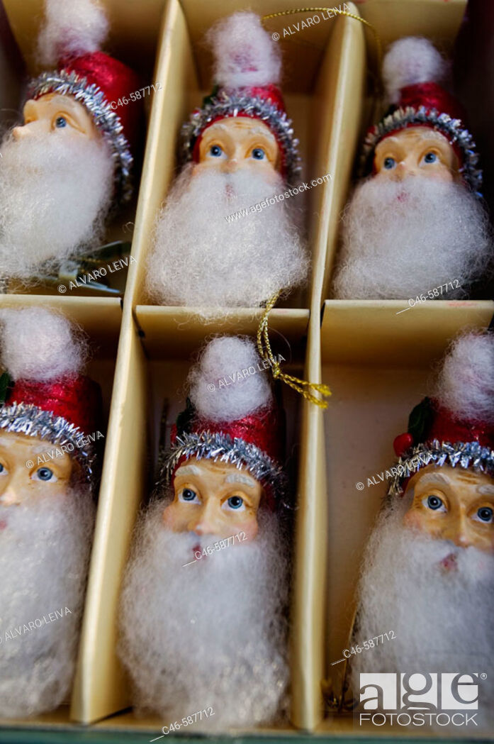 Stock Photo: Santa Claus for christmas trees, Los Angeles, California, USA.