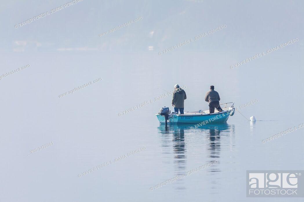 Stock Photo: Lac du Bourget, Savoie, Rhône-Alpes, Francia.