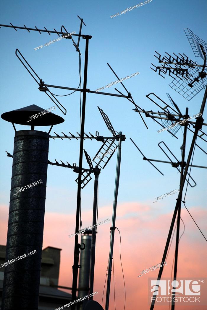 Stock Photo: Antenna.