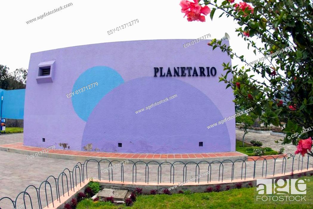 Stock Photo: planetarium at mitad del mundo equator ecuador.