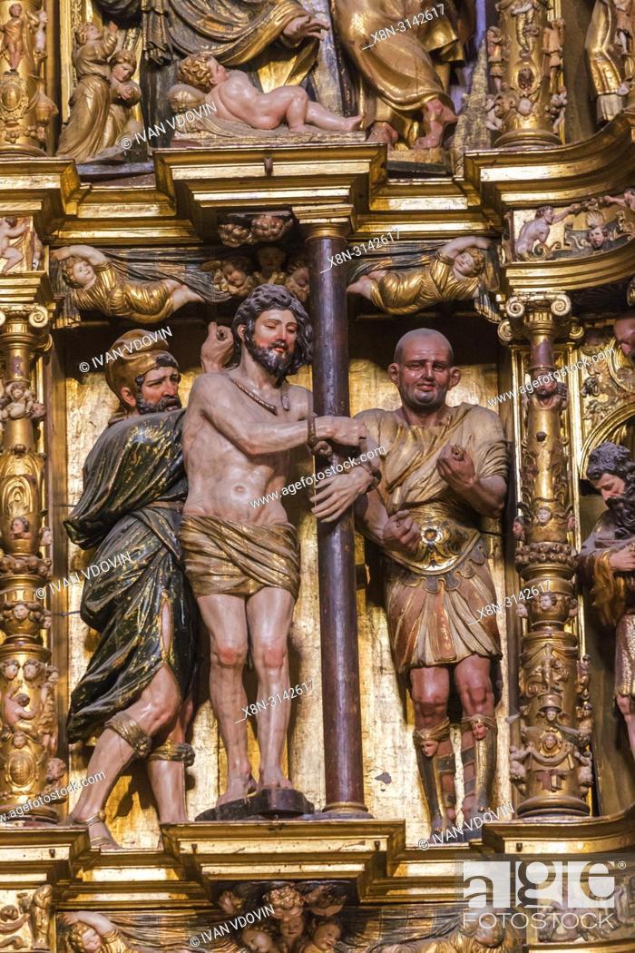 Capilla Del Obispo Retablo 1550 By Francisco Giralte Madrid