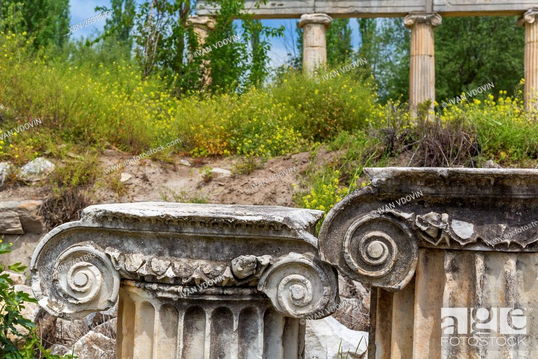 Stock Photo: Ruins of ancient Aphrodisias, Aydin Province, Turkey.