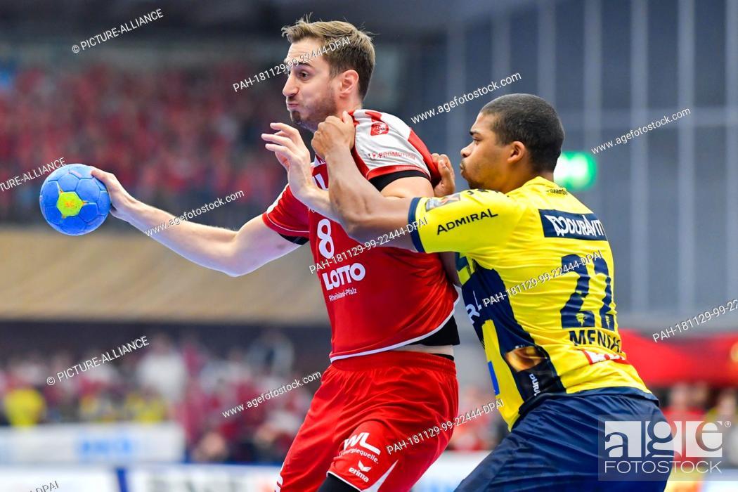 Stock Photo: 29 November 2018, Rhineland-Palatinate, Ludwigshafen: Handball: Bundesliga, Die Eulen Ludwigshafen - Rhein-Neckar Löwen, 15th matchday.