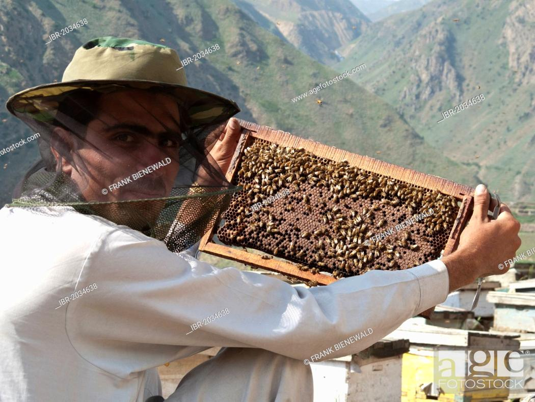 Local man producing honey the traditional way, in the area